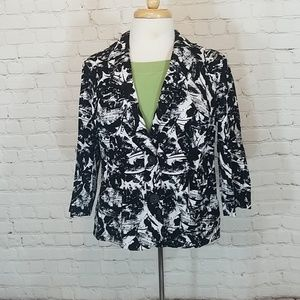 Black and white coldwater creek jacket